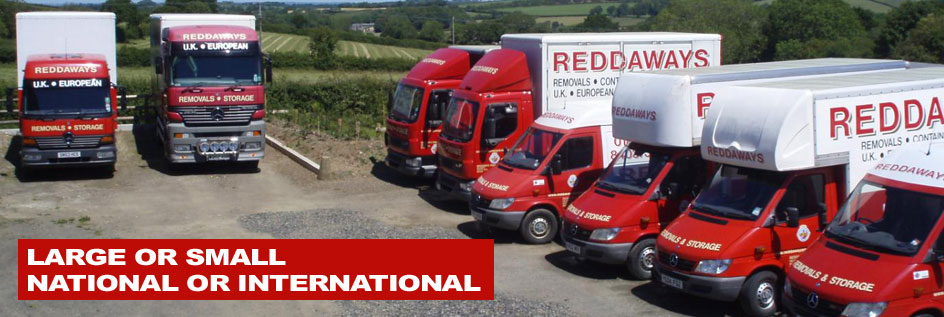 UK and International Removals, Reddaways Removals, Okehampton